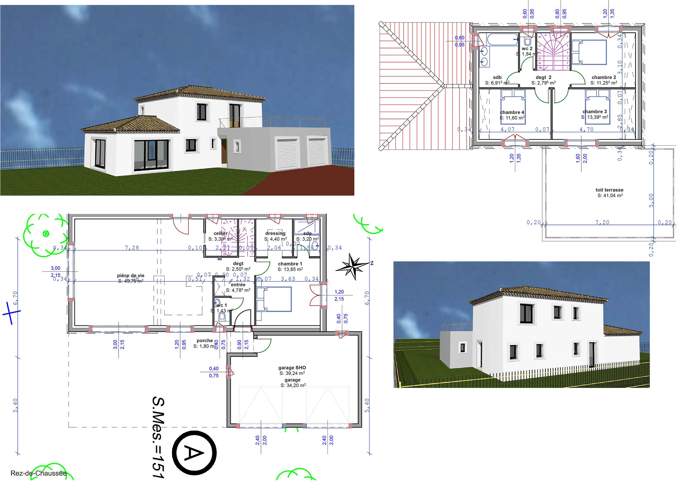Construction maisons vertes du var cr ation des plans de for Plan entree maison