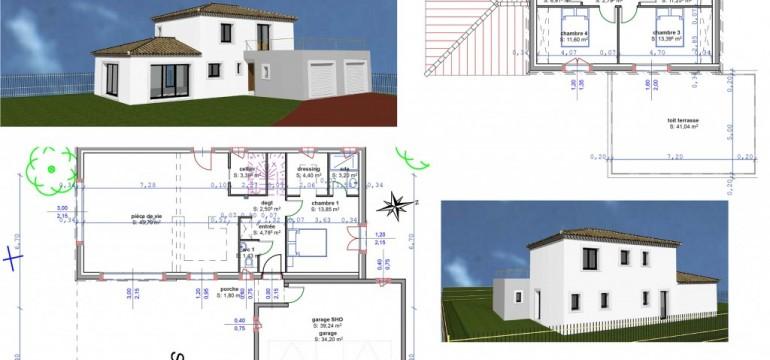Plan maison avec etage partiel segu maison for Avorter a la maison