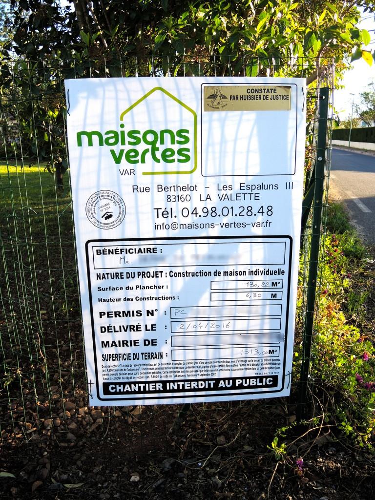 Permis de construire Maisons vertes du Var