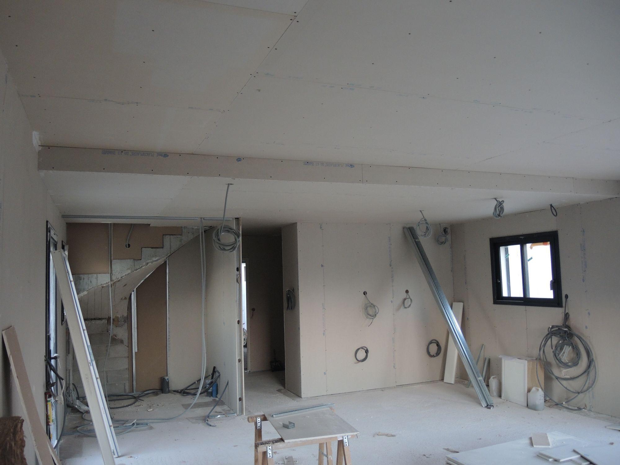 Placo Hydrofuge Plafond Salle De Bain Obligatoire ~ construction maisons vertes du var mise en place de l isolation et